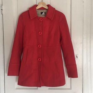 J CREW pink wool coat